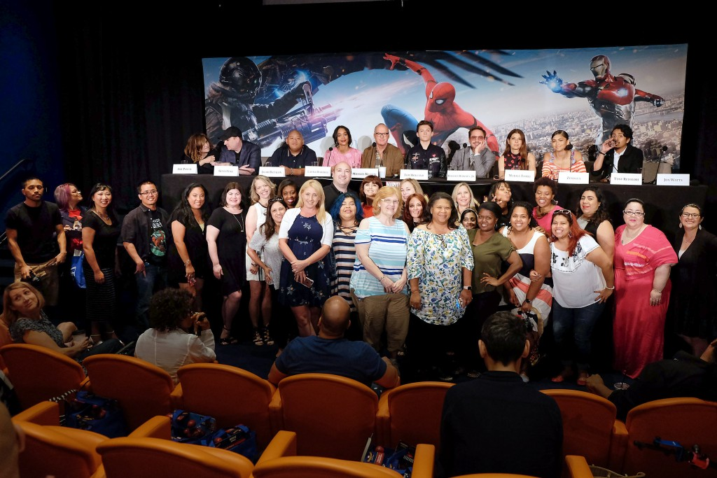 "- New York, NY - 6/25/17 -  attend a Press Conference for Marvel Studios' ""SPIDER-MAN - HOMECOMING"". The film stars Tom Holland, Michael Keaton, Robert Downey Jr, Zendaya and Marisa Tomei. It releases in theaters nationwide on June 28, 2017. -Pictured:  -Photo by: Kristina Bumphrey/StarPix -Location: The Whitby Hotel"