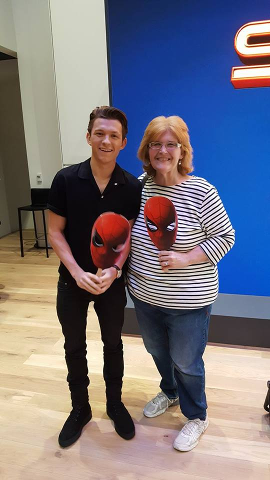 Sony square nyc hosts the spider man homecoming experience our family was super lucky and had a very special treat tom holland himself the real spider man surprised the crowd with a meet and greet and some pics m4hsunfo