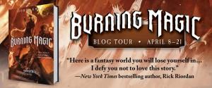 Burning Magic Blog Tour Banner